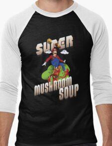 Super Mario Mushroom Soup T-shirt and Stickers Men's Baseball ¾ T-Shirt