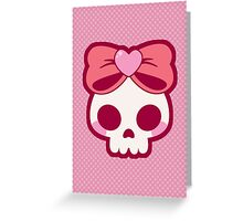 Skull Bow Greeting Card