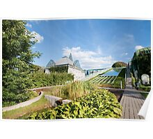 Warsaw University Library Garden Poster