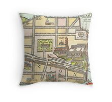1650 Fuller Map of Jerusalem Israel Palestine  Holy Land Geographicus jerusalem fuller 1650 Throw Pillow