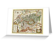 1657 Jansson Map of Germany Germania Geographicus Germaniae jansson 1657 Greeting Card