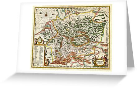 1657 Jansson Map of Germany Germania Geographicus Germaniae jansson 1657 by Adam Asar