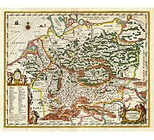 1657 Jansson Map of Germany Germania Geographicus Germaniae jansson 1657 Photographic Print