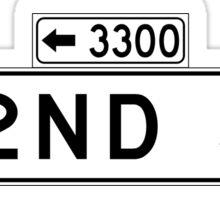 22nd St., San Francisco Street Sign, USA Sticker