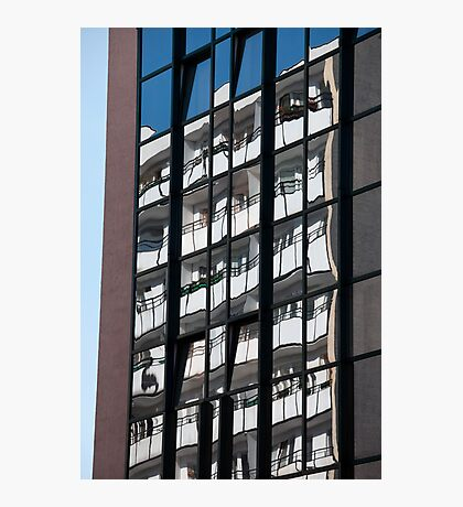 Reflections on Windows Abstract Photographic Print