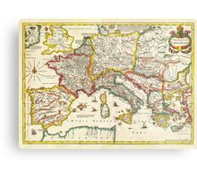 1657 Jansson Map of the Empire ofCharlemagne Geographicus CaroliMagni jansson 1657 Metal Print