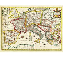 1657 Jansson Map of the Empire ofCharlemagne Geographicus CaroliMagni jansson 1657 Photographic Print