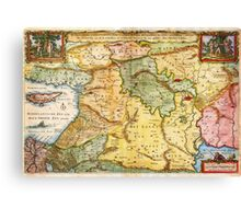 1657 Visscher Map of the Holy Land or the Earthly Paradise Geographicus Gelengentheyt visscher 1657 Canvas Print