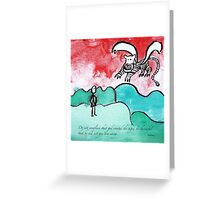 flying tiger Greeting Card