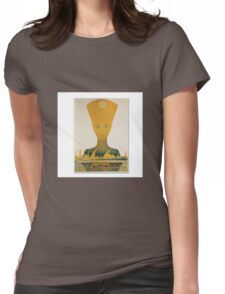 Vintage Egyptian Railways Advert  Womens Fitted T-Shirt