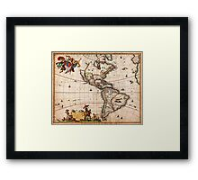 1658 Visscher Map of North America and South America Geographicus America visscher 1658 Framed Print