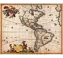 1658 Visscher Map of North America and South America Geographicus America visscher 1658 Photographic Print