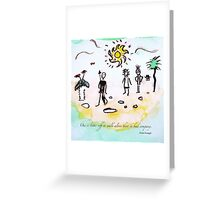 Walk Greeting Card