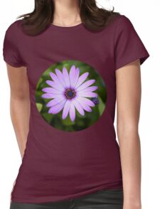 Purple Daisy Womens Fitted T-Shirt
