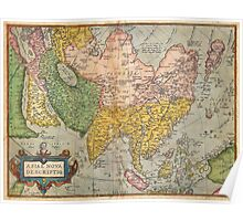1670 Ortelius Map of Asia (first edition) Geographicus AsiaeNovaDescriptio ortelius 1570 Poster