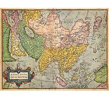 1670 Ortelius Map of Asia (first edition) Geographicus AsiaeNovaDescriptio ortelius 1570 Photographic Print