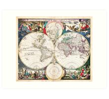 1685 Bormeester Map of the World Geographicus TerrarumOrbis bormeester 1685 Art Print
