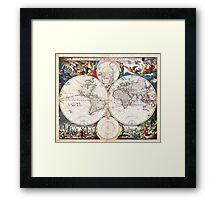 1685 Bormeester Map of the World Geographicus TerrarumOrbis bormeester 1685 Framed Print