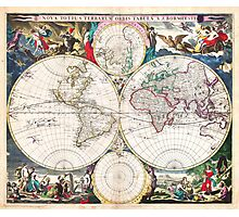 1685 Bormeester Map of the World Geographicus TerrarumOrbis bormeester 1685 Photographic Print