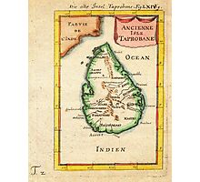 1686 Mallet Map of Ceylon or SriLanka (Taprobane) Geographicus Taprobane mallet 1686 Photographic Print