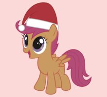 Santa Hat Scootaloo One Piece - Short Sleeve