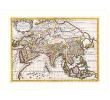 1687 Sanson Rossi Map of Asia Geographicus Asia rossi 1697 Art Print