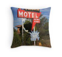 Route 66 - Paradise Motel Throw Pillow