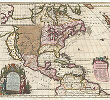 1698 Louis Hennepin Map of North America Geographicus NorthAmerica hennepin 1698 by Adam Asar