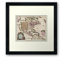 1698 Louis Hennepin Map of North America Geographicus NorthAmerica hennepin 1698 Framed Print