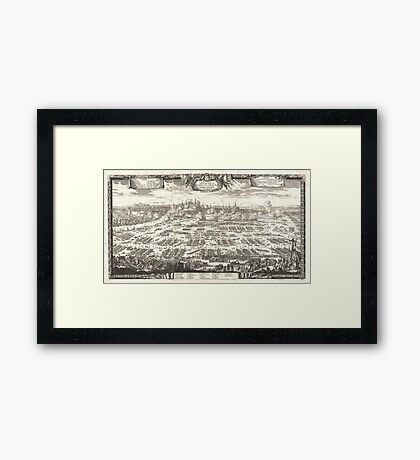 1697 Pufendorf View of Krakow (Cracow) Poland Geographicus Krakow pufendorf 1655 Framed Print