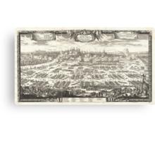 1697 Pufendorf View of Krakow (Cracow) Poland Geographicus Krakow pufendorf 1655 Canvas Print