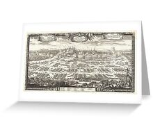 1697 Pufendorf View of Krakow (Cracow) Poland Geographicus Krakow pufendorf 1655 Greeting Card
