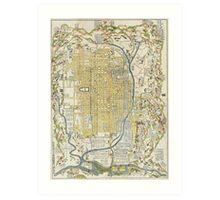 1696 Genroku 9 (early Edo) Japanese Map of Kyoto Japan Geographicus Kyoto genroku9 1696 Art Print