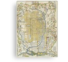 1696 Genroku 9 (early Edo) Japanese Map of Kyoto Japan Geographicus Kyoto genroku9 1696 Canvas Print