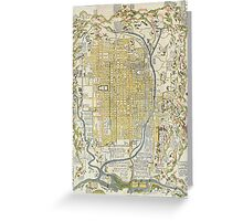 1696 Genroku 9 (early Edo) Japanese Map of Kyoto Japan Geographicus Kyoto genroku9 1696 Greeting Card