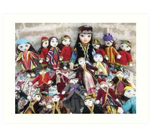 Traditional Uzbek Dolls for Sale Art Print