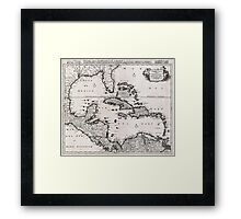 1696 Danckerts Map of Florida the WestIndies and the Caribbean Geographicus WestIndies dankerts 1696 Framed Print