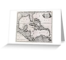 1696 Danckerts Map of Florida the WestIndies and the Caribbean Geographicus WestIndies dankerts 1696 Greeting Card