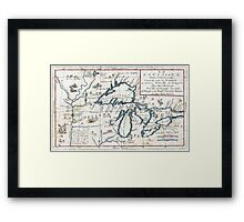 1696 Coronelli Map of the Great Lakes (Most Accurate Map of the Great Lakes in the 17th Century) Geographicus LaLouisiana coronelli 1695 Framed Print