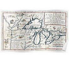 1696 Coronelli Map of the Great Lakes (Most Accurate Map of the Great Lakes in the 17th Century) Geographicus LaLouisiana coronelli 1695 Poster