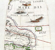 1688 Coronelli Globe Gore Map of NE North America the WestIndies and NE South America Geographicus NEAmericaGore coronelli 1688 by Adam Asar