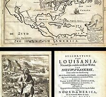 1688 Hennepin First Book and Map of North America (first printed map to name Louisiana) Geographicus NieuwVrankryk hennepin 1688 by Adam Asar