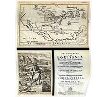 1688 Hennepin First Book and Map of North America (first printed map to name Louisiana) Geographicus NieuwVrankryk hennepin 1688 Poster