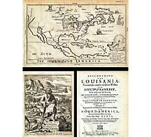 1688 Hennepin First Book and Map of North America (first printed map to name Louisiana) Geographicus NieuwVrankryk hennepin 1688 Photographic Print