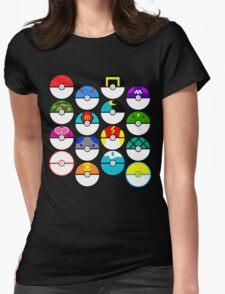 Pokeballs Galore Womens Fitted T-Shirt