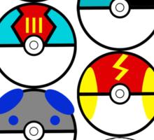 Pokeballs Galore Sticker