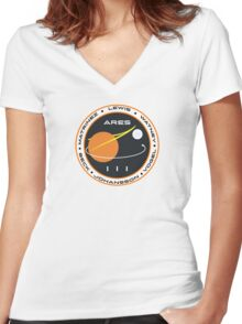 Ares III Women's Fitted V-Neck T-Shirt