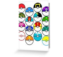 Pokeballs Galore Greeting Card