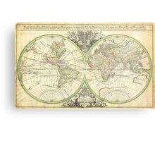 1691 Sanson Map of the World on Hemisphere Projection Geographicus World2 sanson 1691 Metal Print
