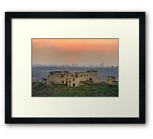 Turkish fortress at the Valley of Afek Framed Print